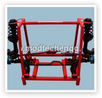 CUT SECTION MODEL OF COMPLETE COIL SPRING TYPE
