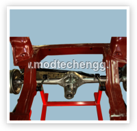 CUT SECTION MODEL OF COIL SPRING REAR SUSPENSION