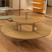Wooden Shelving Round Tables