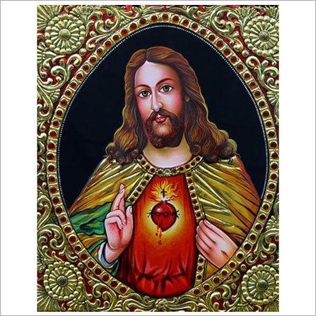 Jesus Christ Tanjore Painting