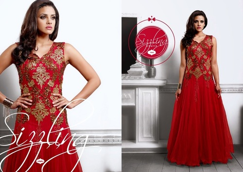 Red Designer Gown