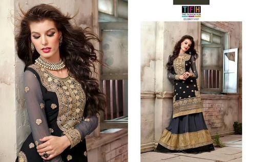 Wedding Wear Sharara Style Dress