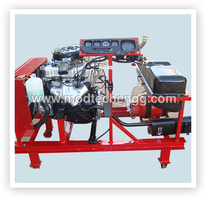FOUR STROKE PETROL CARBURATOR ENGINE WITH LPG SETUP