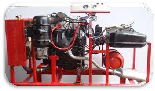 Four Stroke Petrol Mpfi Engine With Lpg Setup