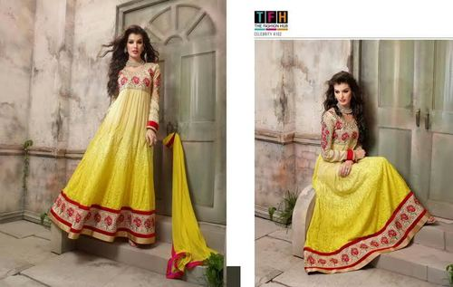 Yellow Designer Anarkali