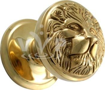 Brass Lion Head Door Knob