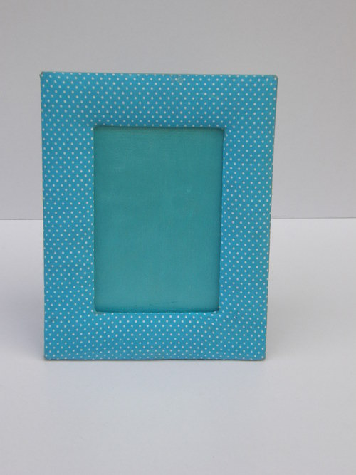 Blue Leather Photo Frame