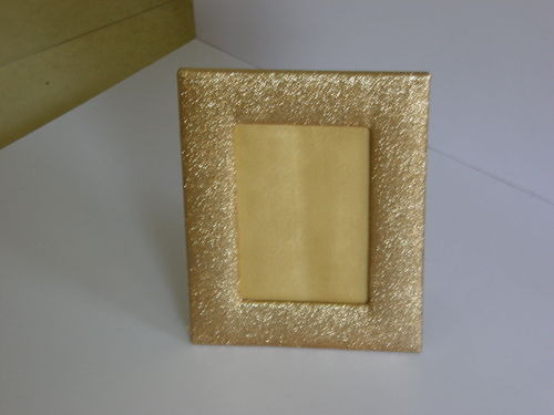 Golden Leather Photo Frame