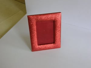 Red Leather Photo Frame