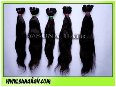 No tangle Not sedding hair quality silky straight weft remy human hair extension