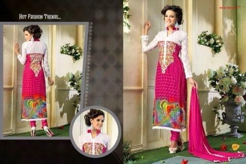 Printed Straight Cut Salwar Kameez