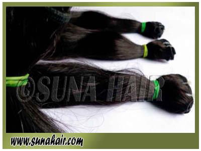 Natural silky straight machine weft remy peruvian virgin human hair extension
