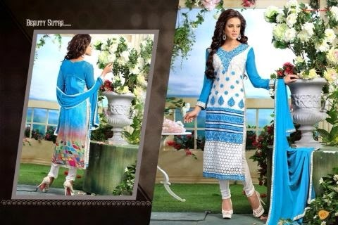 Printed & Georgette Salwar Kameez