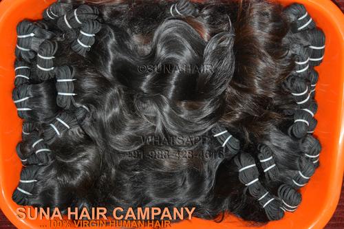 Top quality machine weft straight virgin hair