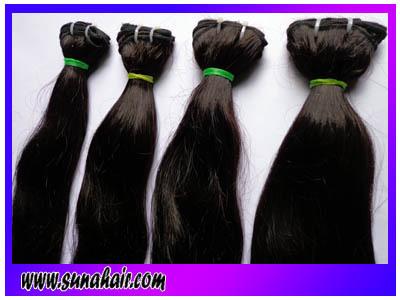 Silky straight brazilian 100% weft natural virgin human hair