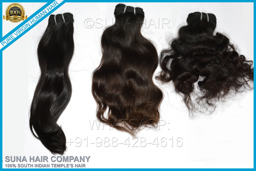 Top quality natural remy straight machine weft human hair