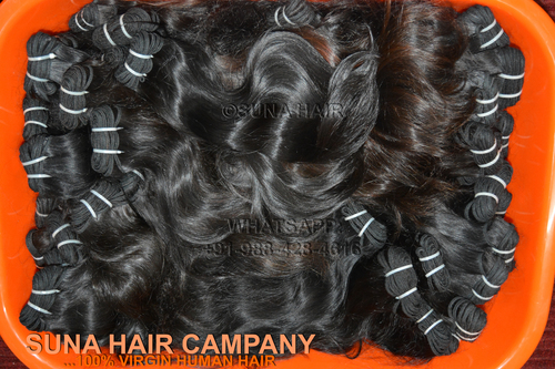 Natural silky straight machine weft remy virgin human hair