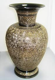 Antiques Carved Brass Vase