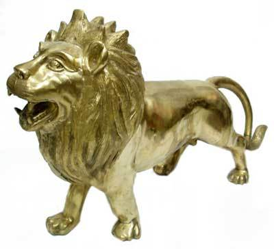 Brass Lion Figurine