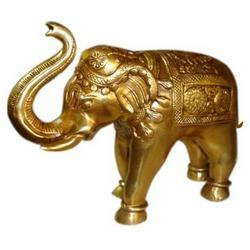 Brass Elephant Figure