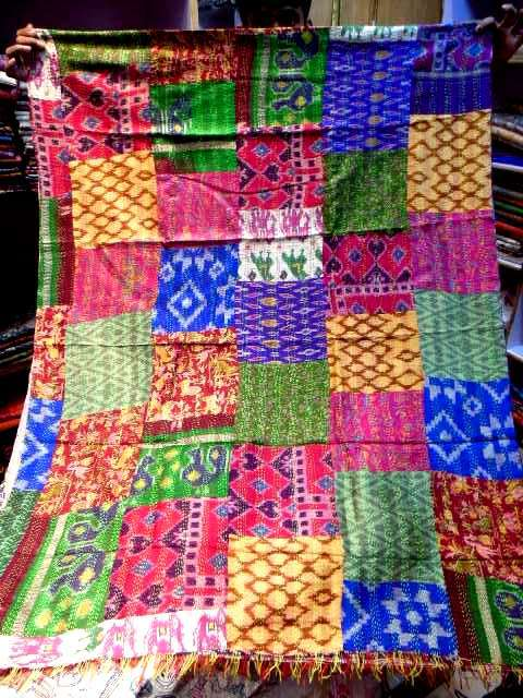 Kantha patch work silk dupattas
