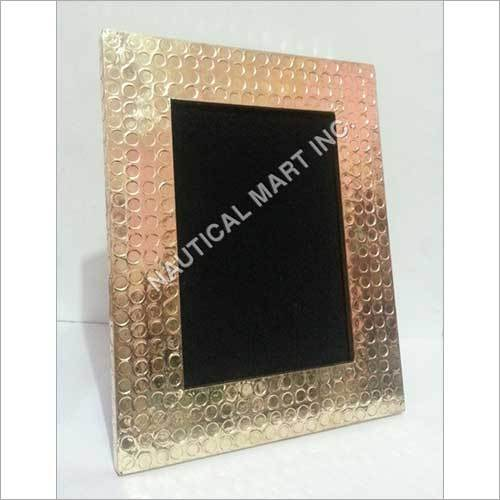 ANTIQUE GILDED BRASS PHOTO FRAME