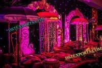 WEDDING PEACOCK MEHANDI STAGE SET