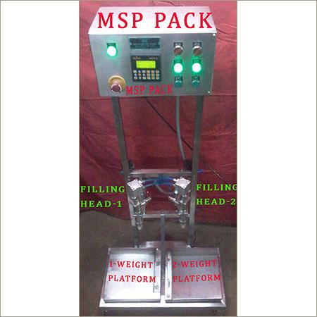Semi Auto Weight Metric 2 Head Oil Filling Machine
