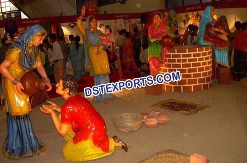 Traditional Punjabi Culture Village Theem