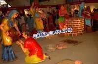 Traditional Punjabi Culture Village Theem