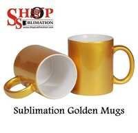 Sublimation Gold Mugs