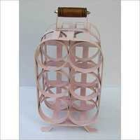 BEAUTIFUL LIGHT PINK WINE BOTTLE HOLDER STAND