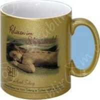 Printed Golden Mug
