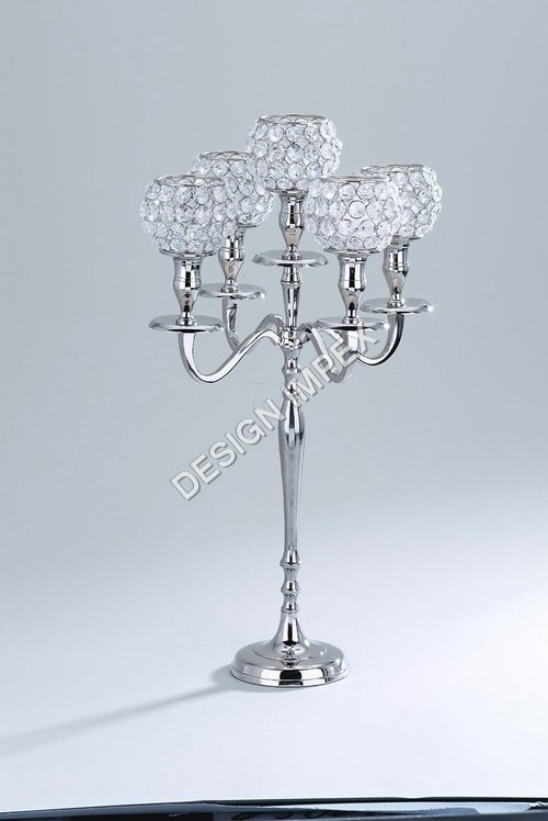 Crystal Globe Candle Stand
