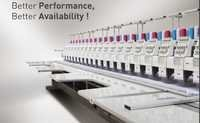 FLAT MULTI HEAD AUTOMATIC EMBROIDERY MACHINE GE Series