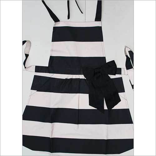 Striped Apron With Bow