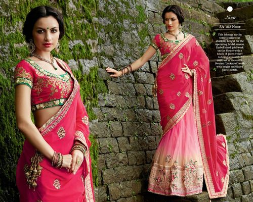 Designer Saree with Heavy Blouse