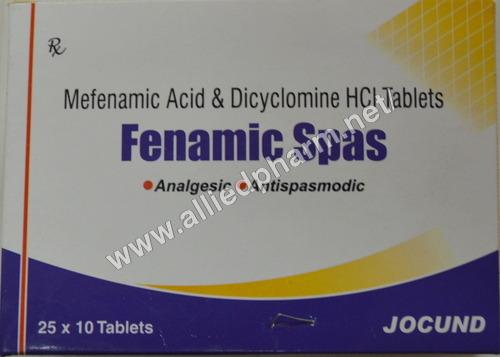 Mefenamic Acid & Dicyclomine HCL Tablets