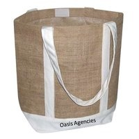 Jute Cotton Tape Handle Bag