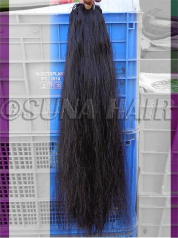 Straight machine weft gold color indian virgin remy human hair