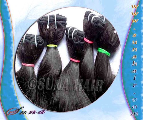Machine weft silky straight real high quality virgin human hair