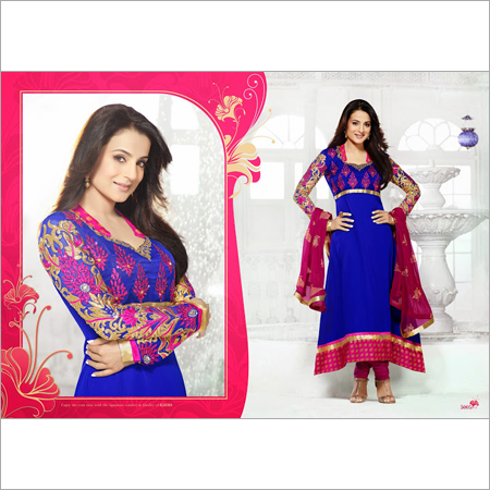 Printed Anarkali Suit