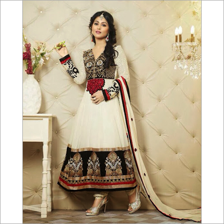 Fancy Cotton Anarkali suit