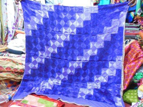 100% silk chenon crepe phulkari dupattas