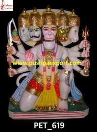 White Marble Hanuman God Statue