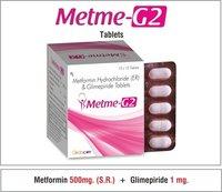 Metformin(S.R.)....500 mg.+ Glimepiride....2 mg.