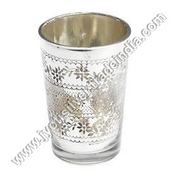 Engraved Silver Glass