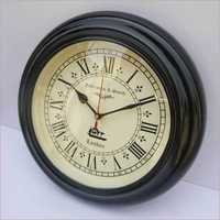 HANDMADE ANTIQUE STYLE HOMEDECOR BLACK WOODEN WALL CLOCK