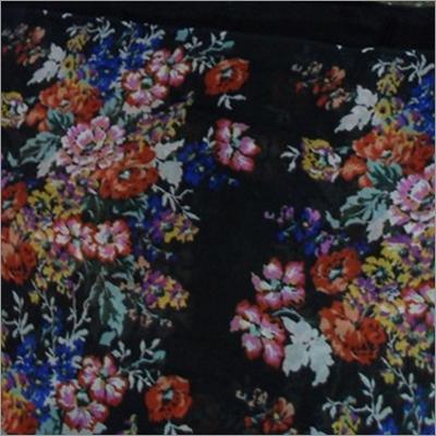 Flower Print Polyester Fabric