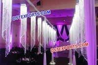 Lighted Hanging Wedding Crystal Pillars